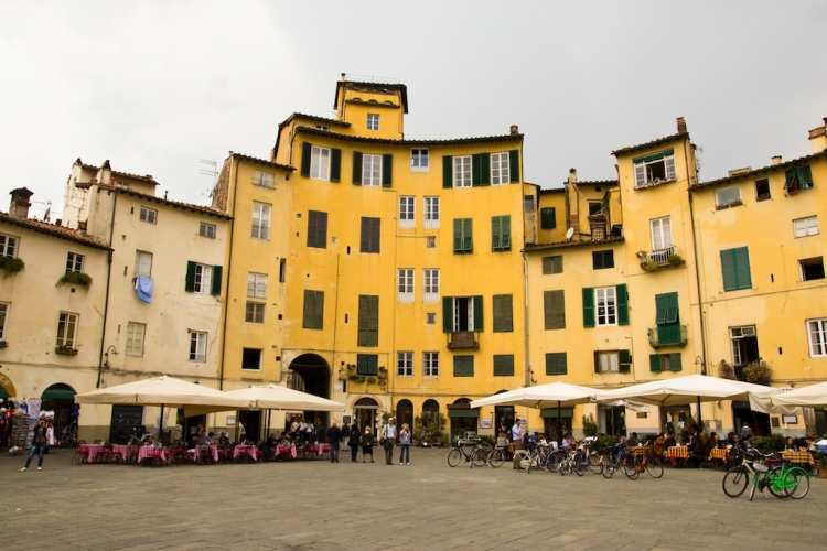 Piazza dell'Anfiteatro, Lucca, Province of Lucca, Italy